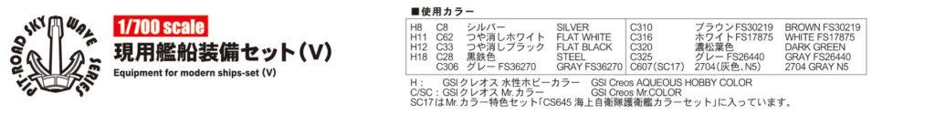 E01 1/700 現用艦船装備セット 5
