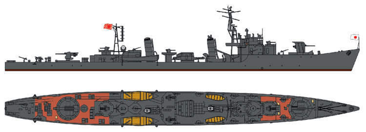 SPW11 1/700 日本海軍 橘型 駆逐艦 菫