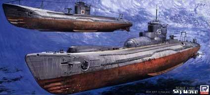 SPW23 1/700 日本海軍 潜水艦 伊9&呂35(各1隻入り)