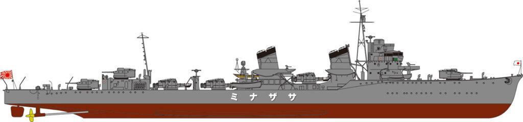 SPW29 1/700 日本海軍 特型駆逐艦 漣(さざなみ) 新WWII 日本海軍艦船装備セット7付き