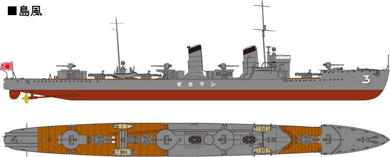 W179 1/700 日本海軍 峯風型駆逐艦 峯風 フルハルモデル