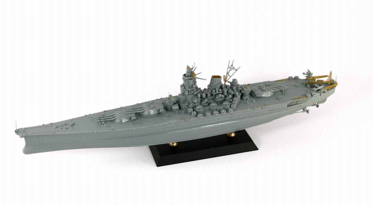 W201E 1/700 日本海軍 戦艦 武蔵 レイテ沖海戦時 エッチングパーツ付き