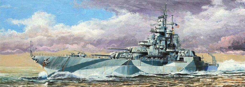 W204 1/700 アメリカ海軍 戦艦 ウェスト・ヴァージニア 1945