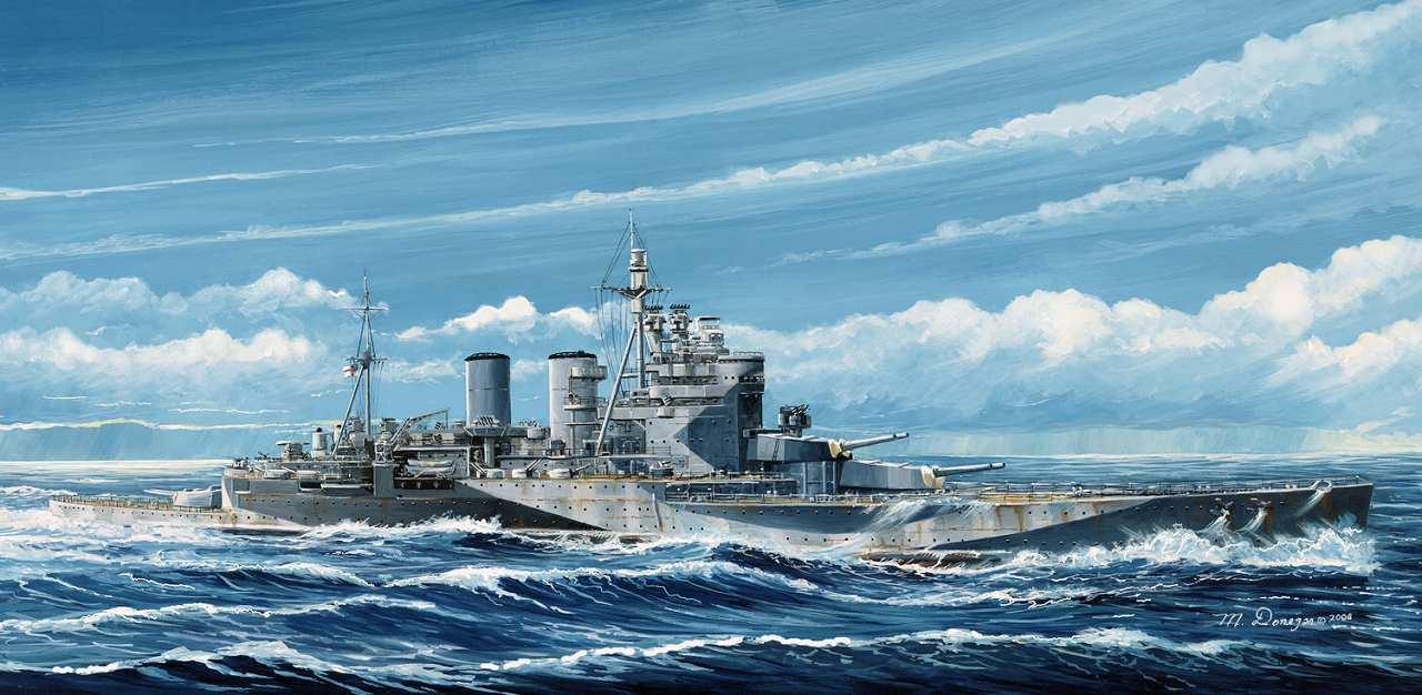 W221 1/700 WWII イギリス海軍 巡洋戦艦 レナウン 1945