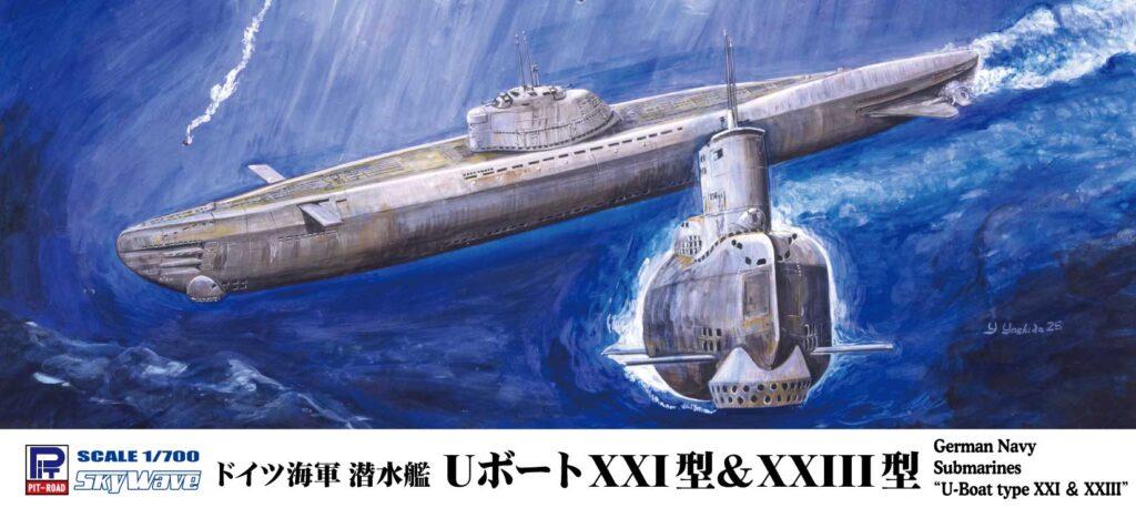W223 1/700 ドイツ海軍 潜水艦 Uボート XXI型&XXIII型