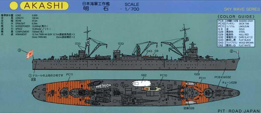 W37 1/700 日本海軍 工作艦 明石