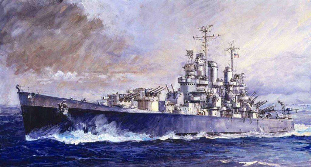 W208 1/700 アメリカ海軍 軽巡洋艦 CL-55 クリーブランド