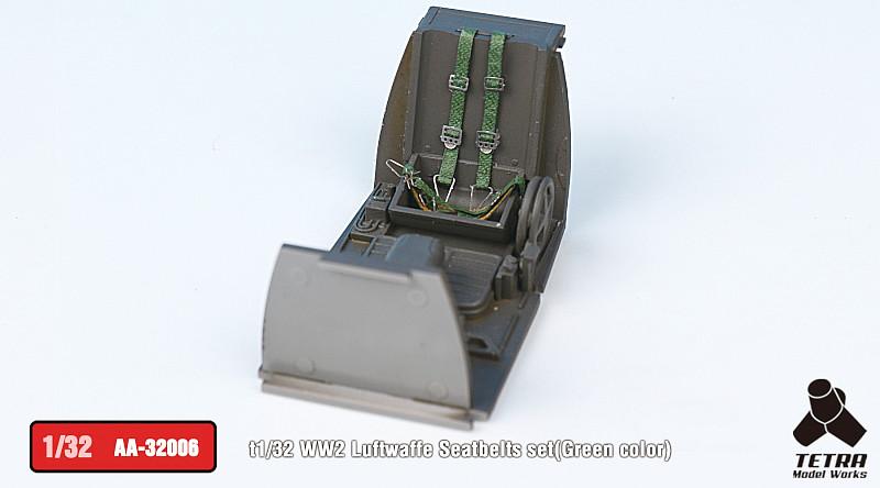 AA3206 1/32 WWII ドイツ軍 航空機 シートベルト(グリーン色)