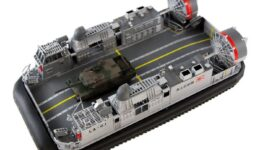 D03 1/144 海上自衛隊 エアクッション型揚陸艇 LCAC(陸上自衛隊 10式戦車 1両付き)
