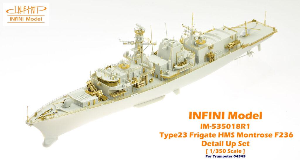 IM53518 イギリス海軍 23型フリゲート HMSモントローズF236(TR社)用 ディテールアップパーツセット