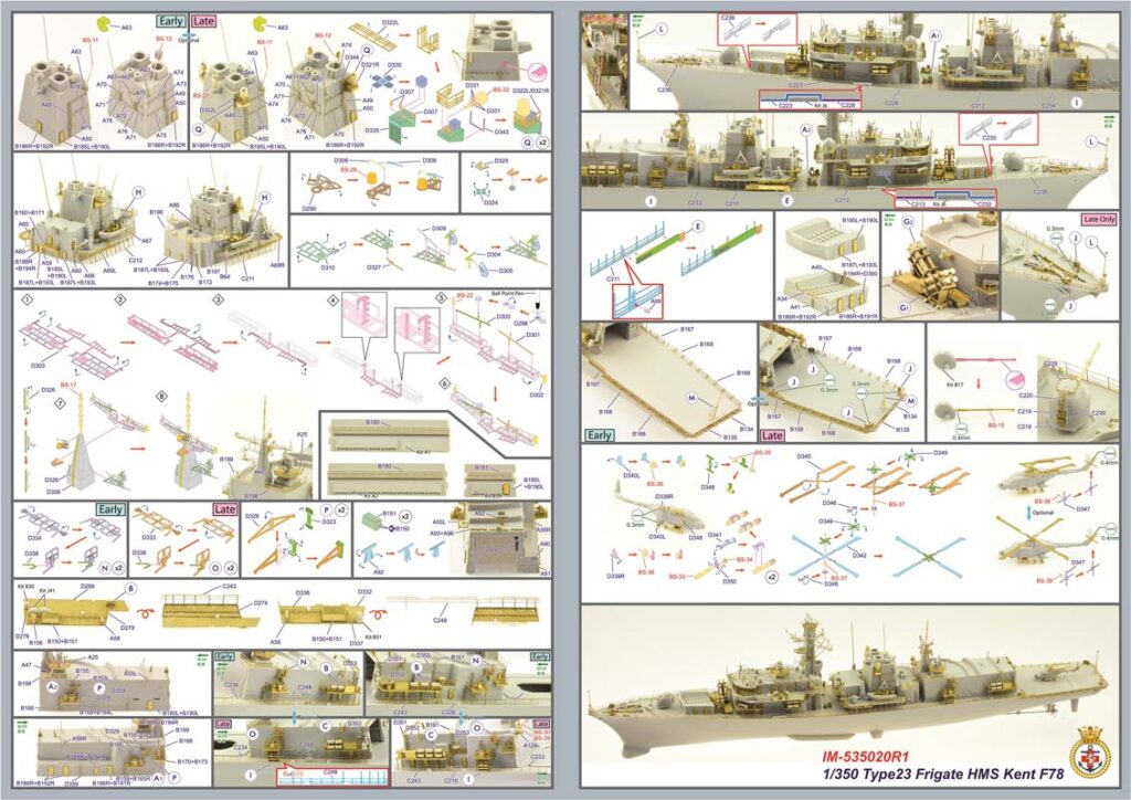 IM53520 イギリス海軍 23型フリゲート HMSケント F78(TR社)用 ディテールアップパーツセット