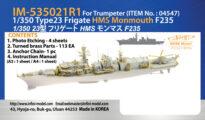 IM53521 イギリス海軍 23型フリゲート HMS モンマス F235(TR社)用 ディテールアップパーツセット