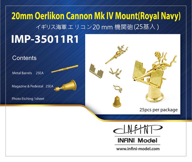 IMP3511 1/350 イギリス海軍 エリコン20mm機関砲(25基入り)