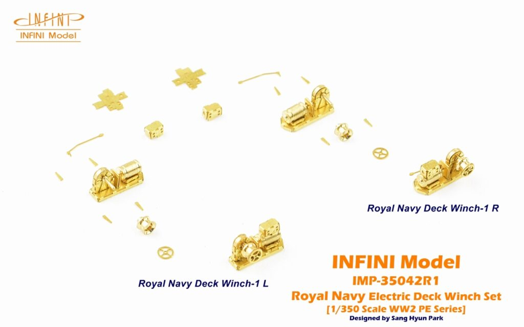 IMP3542 1/350 ウィンチセットC(イギリス海軍用)
