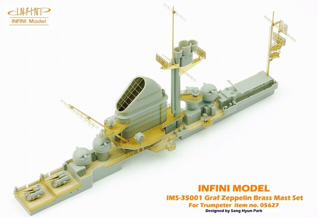IMS3501 1/350 ドイツ海軍 空母 グラーフ・ツェッペリン(TR社)用 マストセット