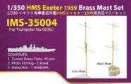 IMS3504 1/350 イギリス海軍 重巡洋艦 HMS エクセター1939(TR社)用 マストセット