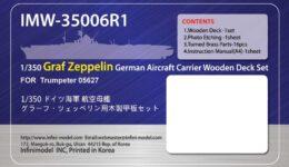 IMW3506 1/350 ドイツ海軍 空母グラーフ・ツェッペリン(TR社05627)用 木製甲板セット