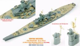 IMW7003 1/700 アメリカ海軍 戦艦 ミズーリ(T社)用 木製甲板