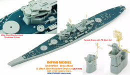 IMW7004B 1/700 アメリカ海軍 戦艦 アイオワ(T社)用 木製甲板 デッキブルー色