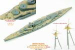 IMW7006 1/700 日本海軍 戦艦 金剛 1941(F社)用 木製甲板セット