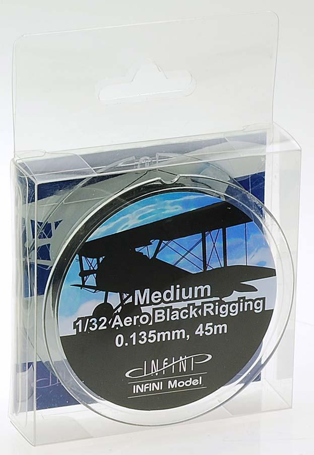 IR3200 ミディアムエアロリギング(直径0.135mm×45m 黒色 1/32用)