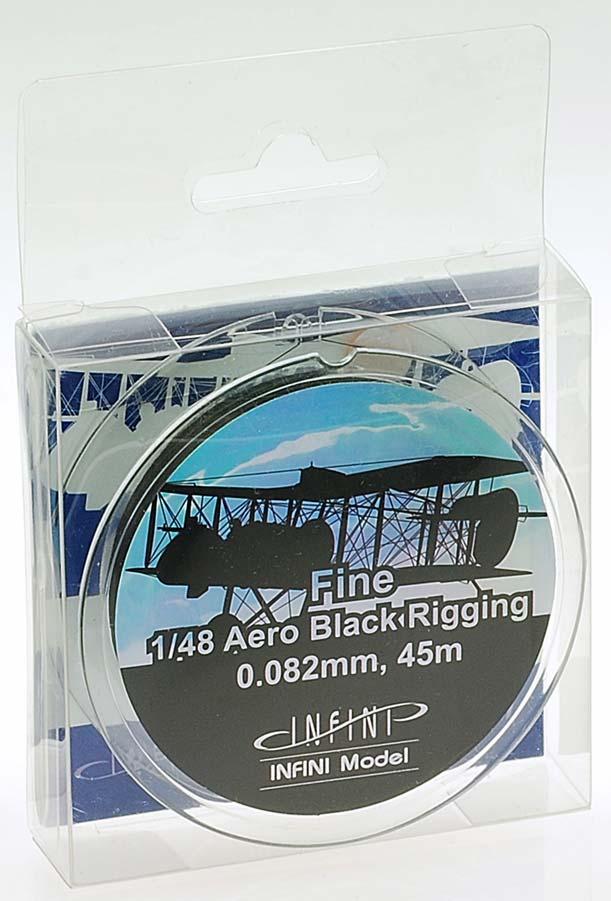 IR4800 ファインエアロリギング(直径0.082mm×45m 黒色 1/48用)