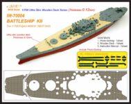 IW7004 1/700 日本海軍 戦艦 紀伊(F社460031 NEXT003)用 木製甲板 エッチングパーツ付き