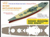 IW7005 1/700 日本海軍 戦艦 武蔵(F社460024 NEXT002)用 木製甲板 エッチングパーツ付き