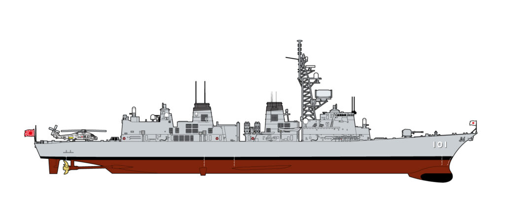 J61F 1/700 海上自衛隊 護衛艦 DD-101 むらさめ 自衛官フィギュア付き(長門佳乃 准海尉 下総マリンブルー)