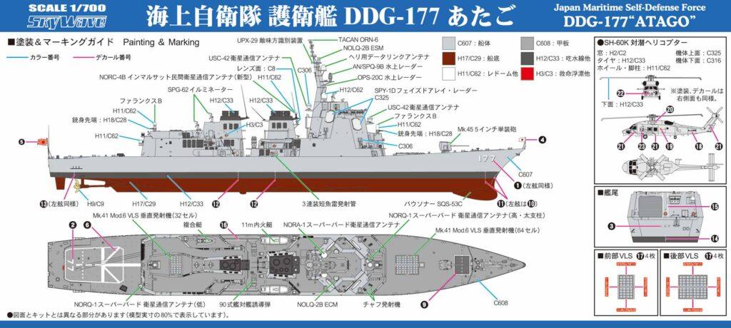 J94 1/700 海上自衛隊 護衛艦 DDG-177 あたご
