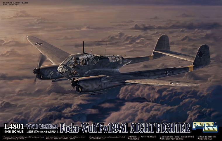 L4801 1/48 WWII ドイツ軍 フォッケウルフ Fw189A-1 夜間戦闘機