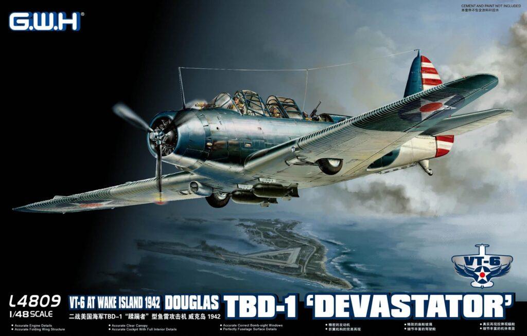 L4809 1/48 TBD-1 デバステーター VT-6 ウェーク島1942