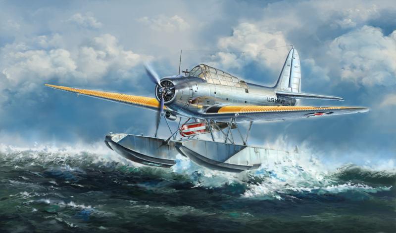 L4812 1/48 WWII アメリカ海軍 TBD-1A デバステーター 水上機型