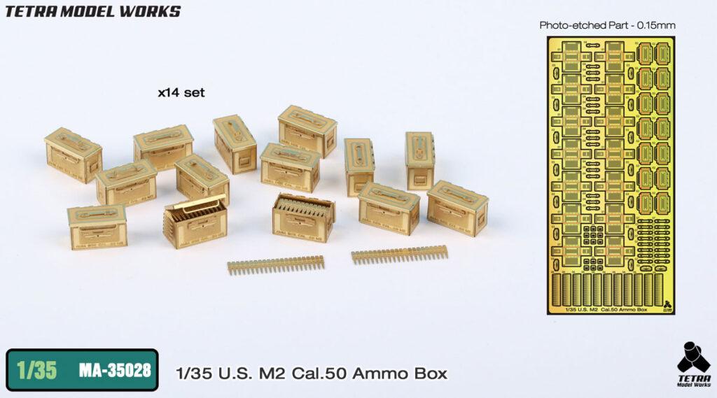 MA3528 1/35 M2 Cal50弾薬箱 エッチングパーツ
