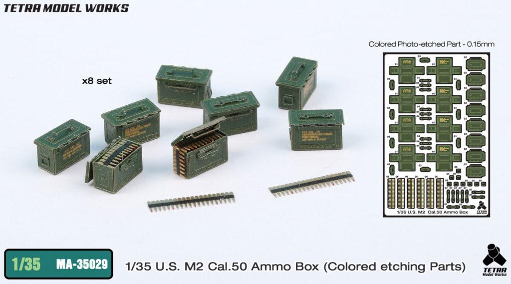 MA3529 1/35 M2 Cal50弾薬箱 塗装済みエッチングパーツ