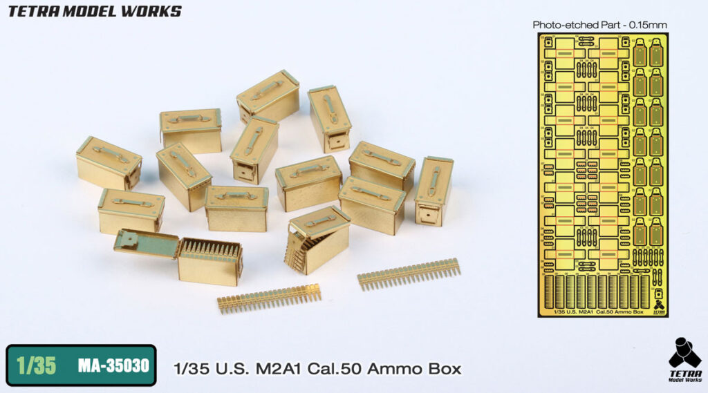 MA3530 1/35 M2A1 Cal50弾薬箱 エッチングパーツ