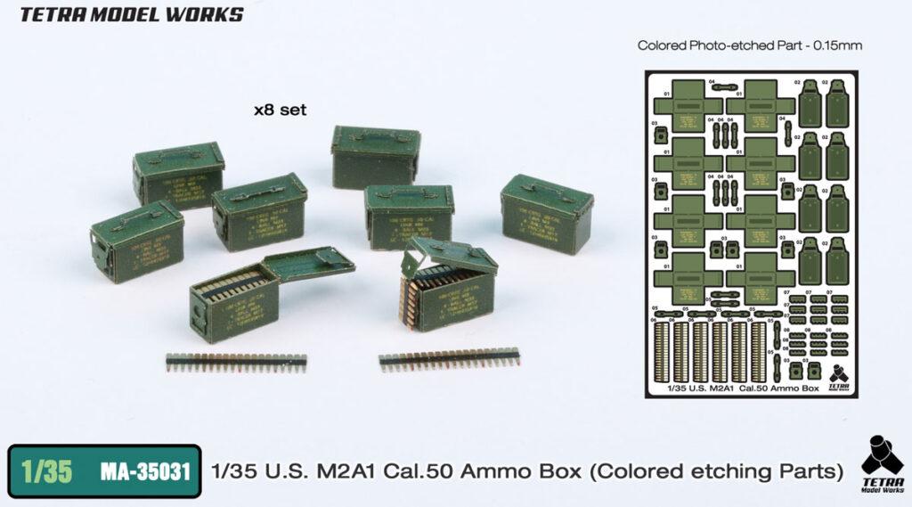 MA3531 1/35 M2A1 Cal50弾薬箱 塗装済みエッチングパーツ