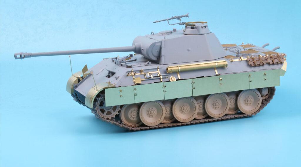 ME3556 1/35 ドイツ陸軍 パンターA型戦車(HB社)用 エッチングパーツ サイドスカート付き