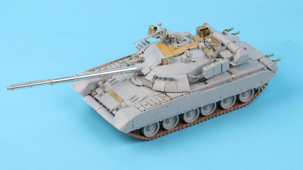 ME3564 1/35 ロシア T-80U主力戦車(TR社)用 エッチングパーツ 砲身付き