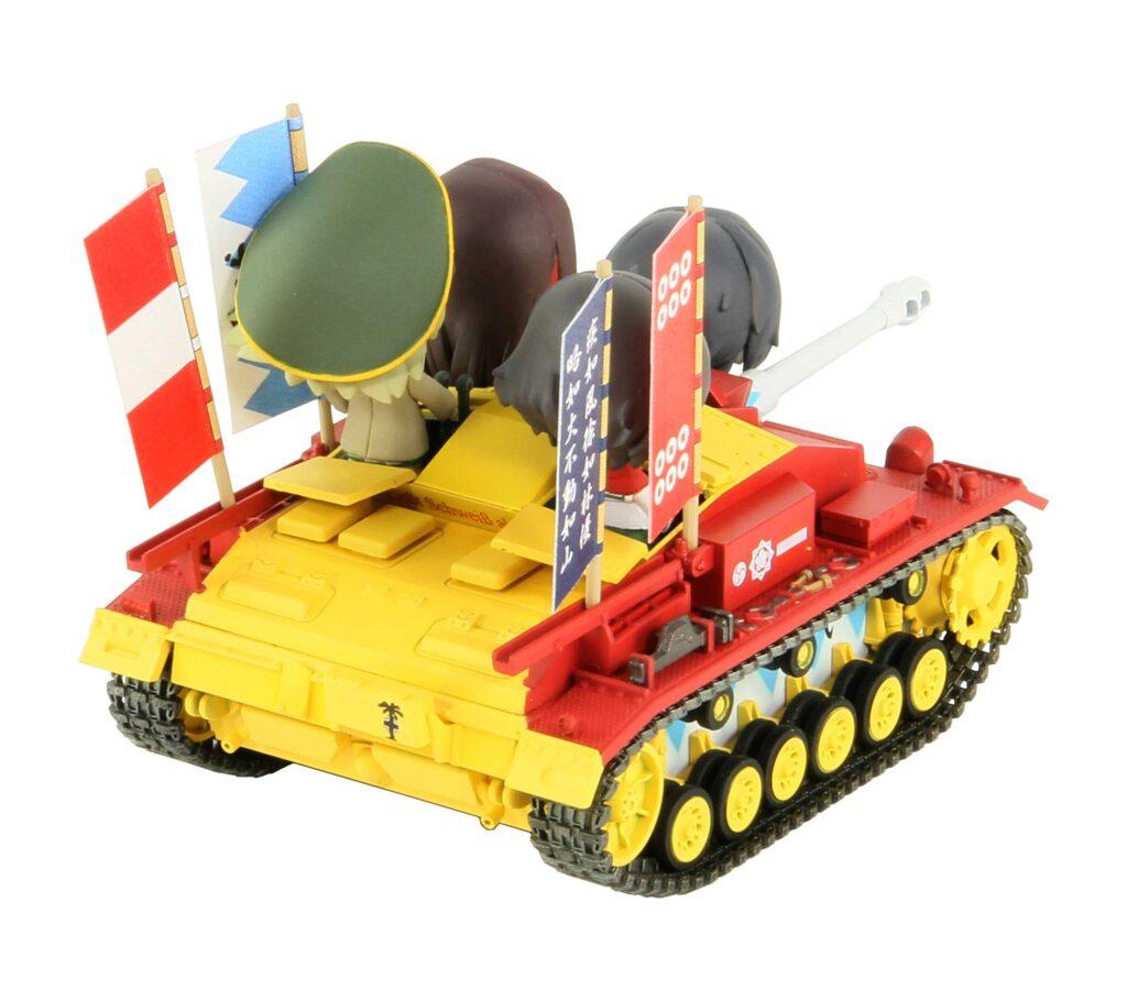 PD87「ガールズ&パンツァー」III号突撃砲 F型 エンディングVer.親善試合時 おりょう&左衛門佐 アクリルフィギュア付き