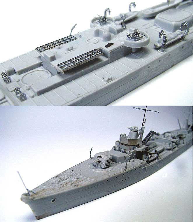 PE232 1/700 日本海軍 給油艦 足摺型用 エッチングパーツ