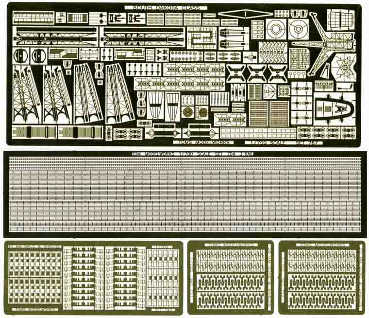 PE307 1/700 WWII アメリカ海軍 戦艦 サウスダコタ級用 エッチングパーツ