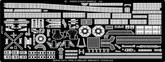 PE35167 1/350 イギリス海軍 23型フリゲート (TR社)用 エッチングパーツ
