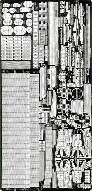 PE36 1/700 WWII イギリス海軍 戦艦/巡洋艦用 エッチングパーツ