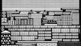 PE43 1/700 アメリカ海軍 空母 サラトガ用 エッチングパーツ