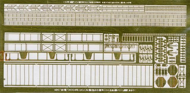 PE61 1/700 WWII アメリカ海軍 輸送船用 エッチングパーツ