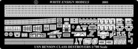 PE754 1/700 アメリカ海軍 駆逐艦 ベンソン級(ピットロード)用 エッチングパーツ