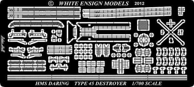 PE797 1/700 イギリス海軍 45型駆逐艦(DR社)用 エッチングパーツ