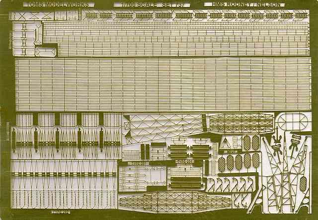 PE88 1/700 WWII イギリス海軍 戦艦 ネルソン/ロドネイ用 エッチングパーツ