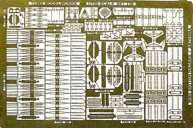 PE89 1/700 イギリス海軍 レーダーセット
